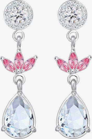 ELLI PREMIUM Ohrringe 'Blume' in pink / silber, Produktansicht