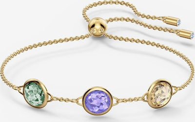 Swarovski Armband 'Tahlia' in gold / grün / lila, Produktansicht