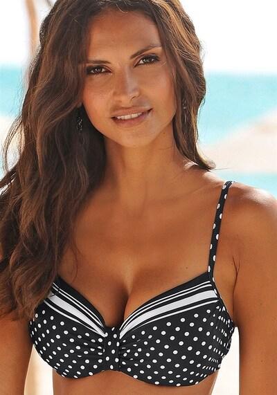 fekete / fehér LASCANA Bikini felső 'Wire Merily', Modell nézet