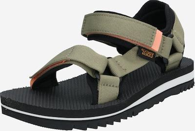 TEVA Sandales en kaki / noir, Vue avec produit