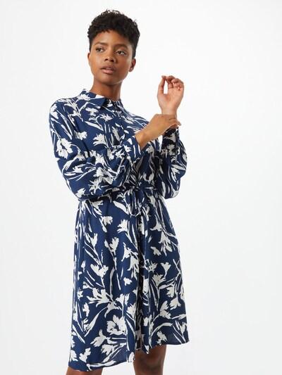 VILA Robe-chemise 'RUMINA' en bleu / blanc cassé: Vue de face