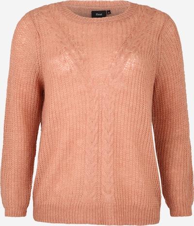 Zizzi Sweter 'CAALBERTE' w kolorze beżowy / brązowym, Podgląd produktu