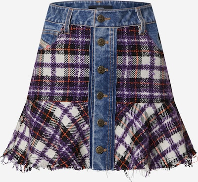 DIESEL Skirt 'O-Beth' in blue denim / purple, Item view