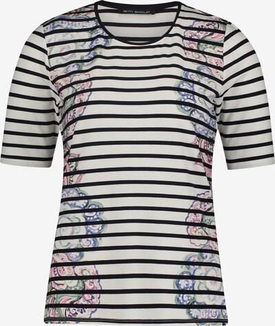 Betty Barclay Basic Shirt mit Muster in dunkelblau / weiß: Frontalansicht