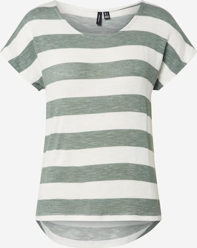 VERO MODA T-shirt en vert / blanc, Vue avec produit