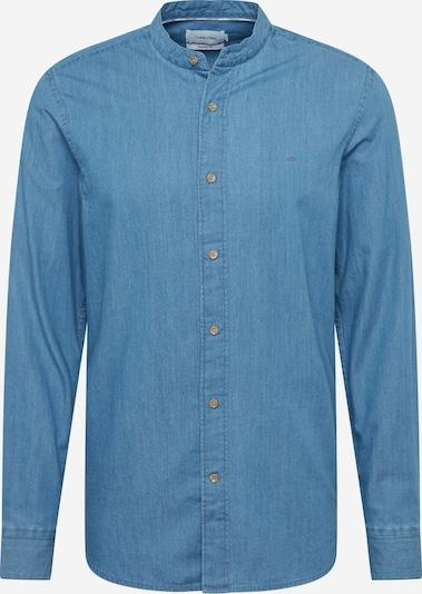 Calvin Klein Hemd 'STAND COLLAR INDIGO SHIRT' in blau, Produktansicht