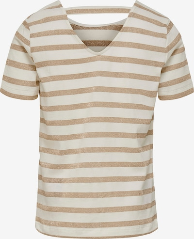 KIDS ONLY T-Shirt in dunkelbeige / weiß, Produktansicht