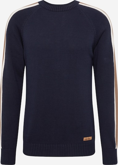 Derbe Pullover in navy / braun / weiß, Produktansicht