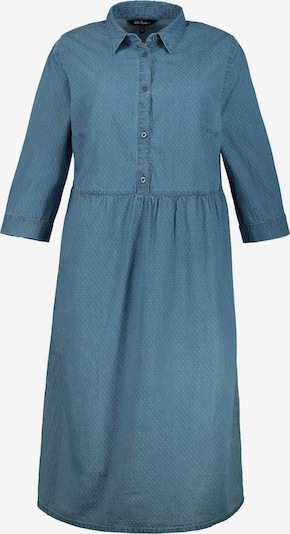 Rochie tip bluză Ulla Popken pe denim albastru, Vizualizare produs