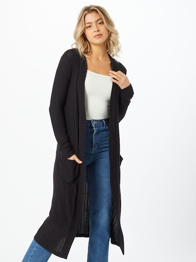 Noisy may Manteau en tricot 'INDIGO' en noir, Vue avec modèle