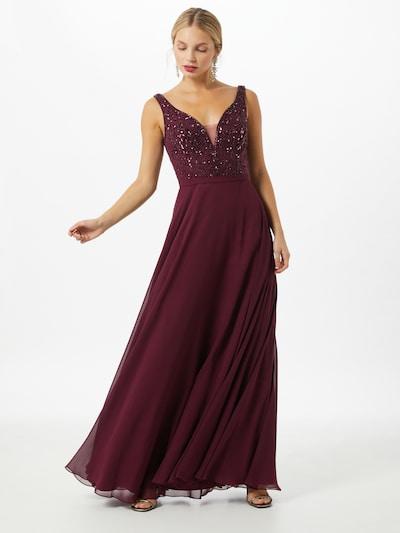 Unique Večerné šaty - vínovo červená, Model/-ka