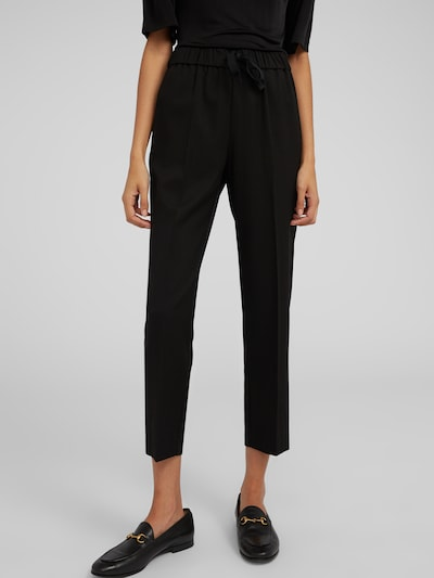 EDITED Pantalon à plis 'Alvina' en noir: Vue de face