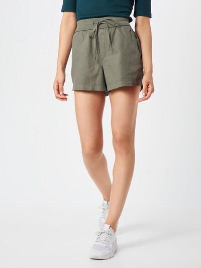 GAP Kalhoty 'LINEN PULL ON SHORT' - zelená: Pohled zepředu