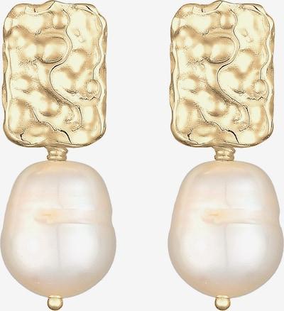 ELLI PREMIUM Uhani | zlata / biserno bela barva, Prikaz izdelka