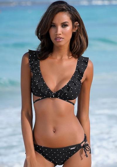 LASCANA Bikinitop 'Sparkle' in schwarz / weiß, Modelansicht