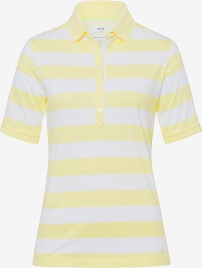 Tricou 'Cleo' BRAX pe galben / alb, Vizualizare produs