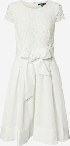 Lauren Ralph Lauren Cocktailmekko 'ZIARAH-CAP SLEEVE-COCKTAIL DRESS' värissä valkoinen