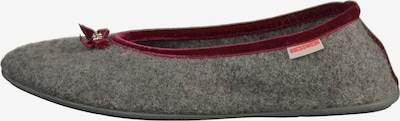 GIESSWEIN Slipper in Grey / Carmine red, Item view