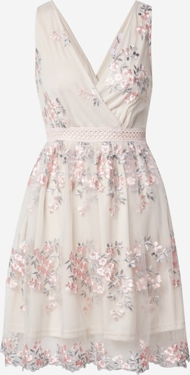 Boohoo Kleid 'Floral Embroidered Mesh Skater Dress' in mint / rosa, Produktansicht