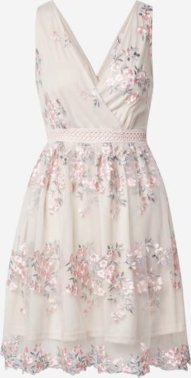 Boohoo Kleid 'Floral Embroidered Mesh Skater Dress' in mint / rosa, Produktansicht