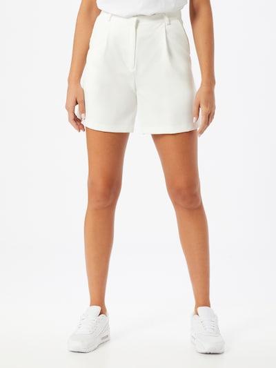 VILA Kalhoty se sklady v pase 'LESLIE' - bílá, Model/ka