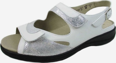 SOLIDUS Sandalette in silber / weiß, Produktansicht