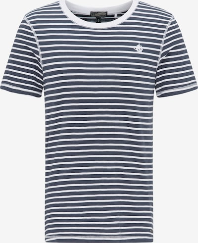 DREIMASTER Herren Ringel-Shirt in weiß, Produktansicht