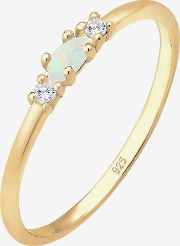 ELLI Ring 'Opal' i gull