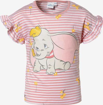 DISNEY T-Shirt 'Dumbo' in goldgelb / hellgrau / rosa / weiß, Produktansicht