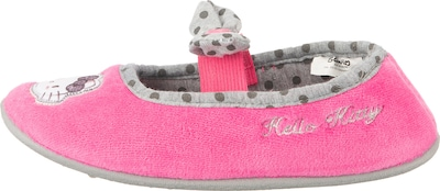 HELLO KITTY Hausschuh in grau / pink, Produktansicht