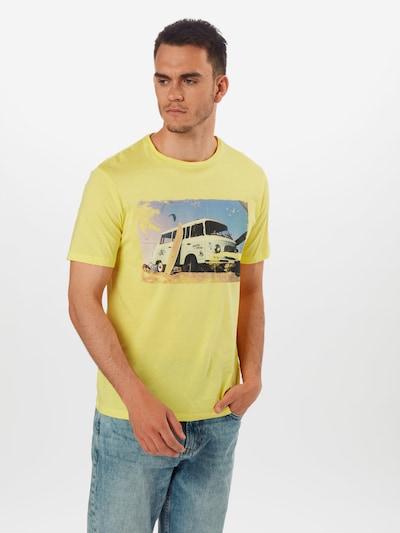 Only & Sons T-Shirt en jaune / gris: Vue de face