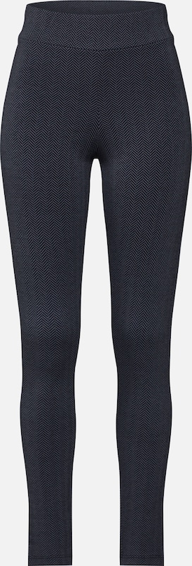 STREET ONE Hose 'Highwaist Leggings With Herrin' in schwarz, Produktansicht