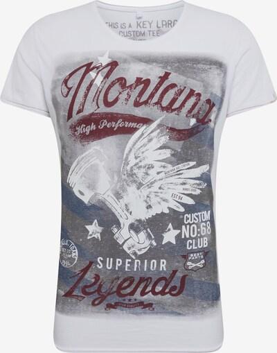 Key Largo Shirt 'MT MONTANA round' in mischfarben / weiß, Produktansicht