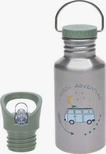 LÄSSIG Trinkflasche in blau / silber, Produktansicht