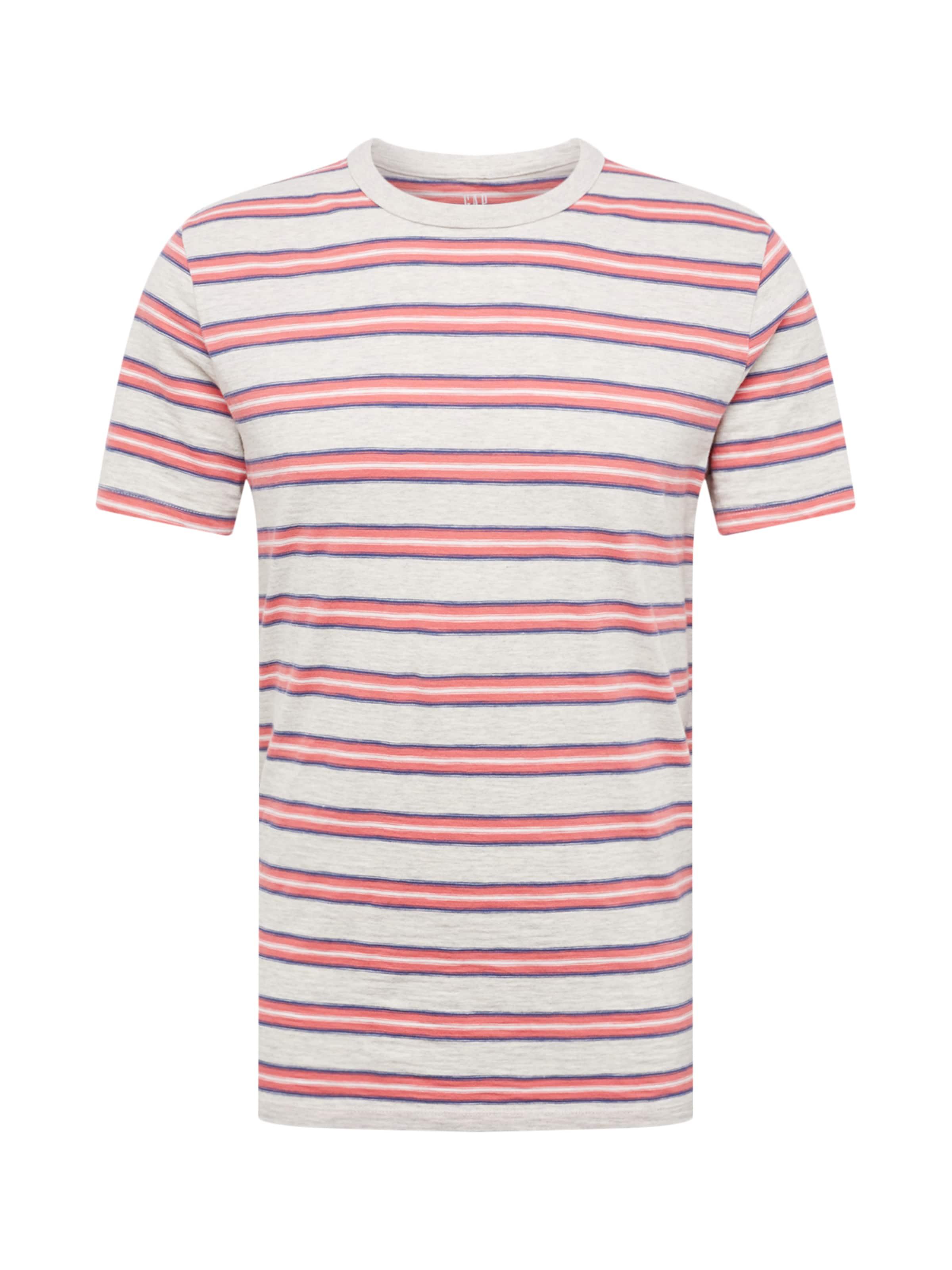 Stripe' 'ss T GrisRouge Gap shirt Slub En Rq35S4AjcL