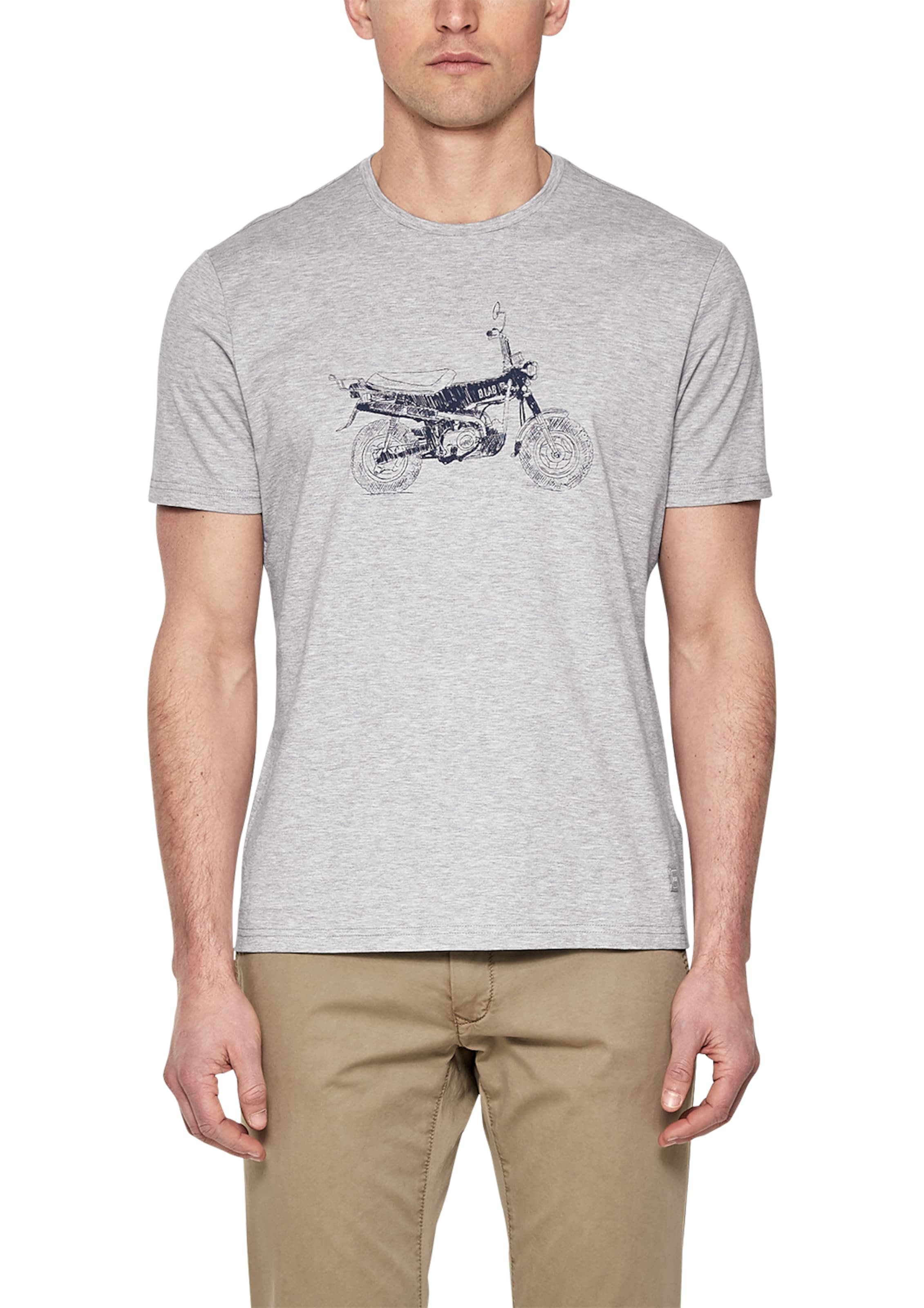 s.Oliver BLACK LABEL Crew Neck-Shirt mit Illustration