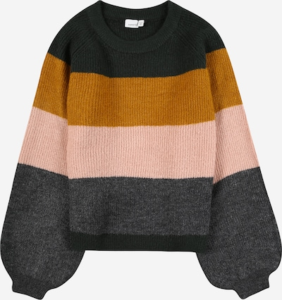 NAME IT Pullover in anthrazit / dunkelorange / pink, Produktansicht