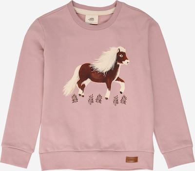 Walkiddy Sweatshirt in braun / pink / weiß, Produktansicht