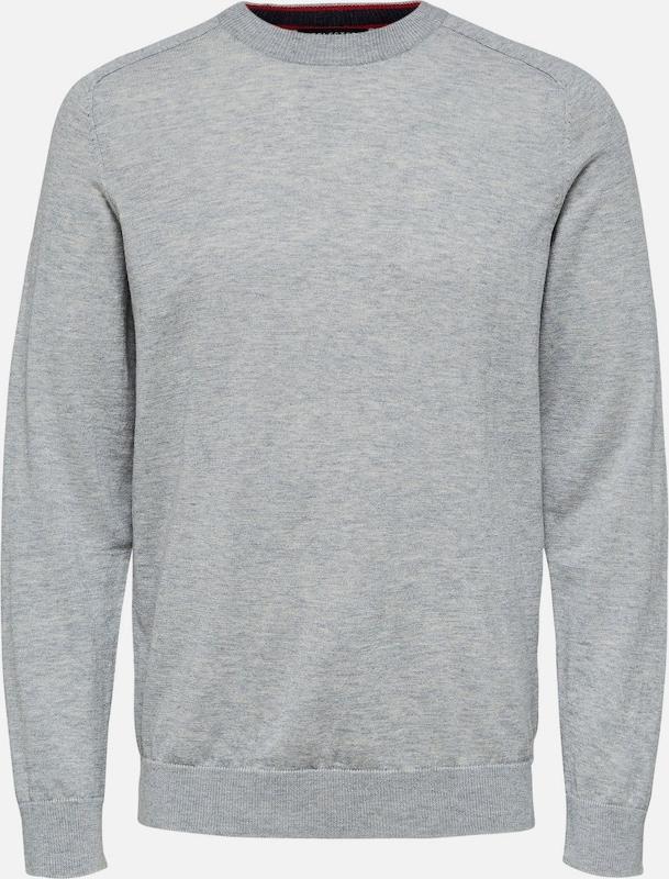 SELECTED HOMME Pullover in grau  Große Preissenkung
