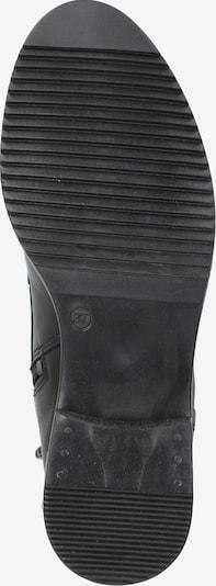 PS Poelman Škornji z vezalkami | črna barva: Pogled od spodaj