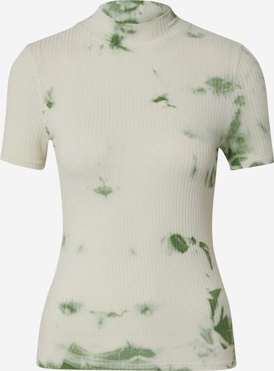 EDITED T-Shirt 'Juana' in grün / weiß, Produktansicht
