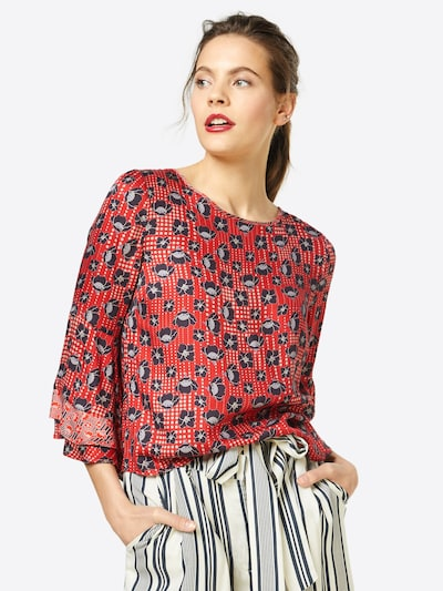 Aaiko Bluse in rot / schwarz, Modelansicht