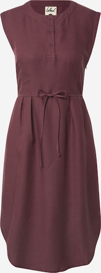 bleed clothing Jurk 'Linen Dress' in de kleur Aubergine, Productweergave