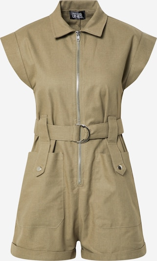 Parallel Lines Overall 'Zip Front Boiler Playsuit' in khaki / oliv, Produktansicht