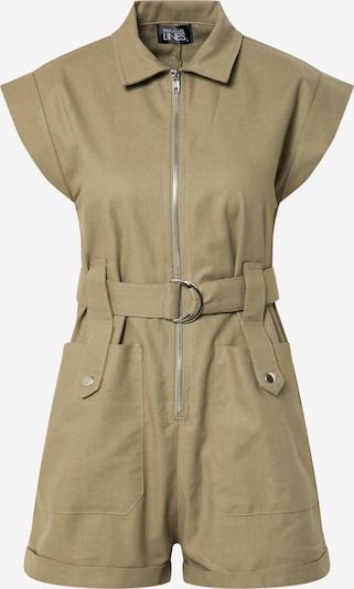 Parallel Lines Kombinezon 'Zip Front Boiler Playsuit' w kolorze khaki / oliwkowym, Podgląd produktu