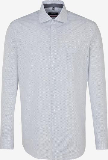 SEIDENSTICKER Zakelijk overhemd 'Modern' in de kleur Lichtgrijs / Wit: Vooraanzicht