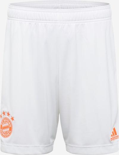 ADIDAS PERFORMANCE Spodnie sportowe 'FC Bayern München 20/21 Auswärtsshort' w kolorze pomarańczowy / białym, Podgląd produktu