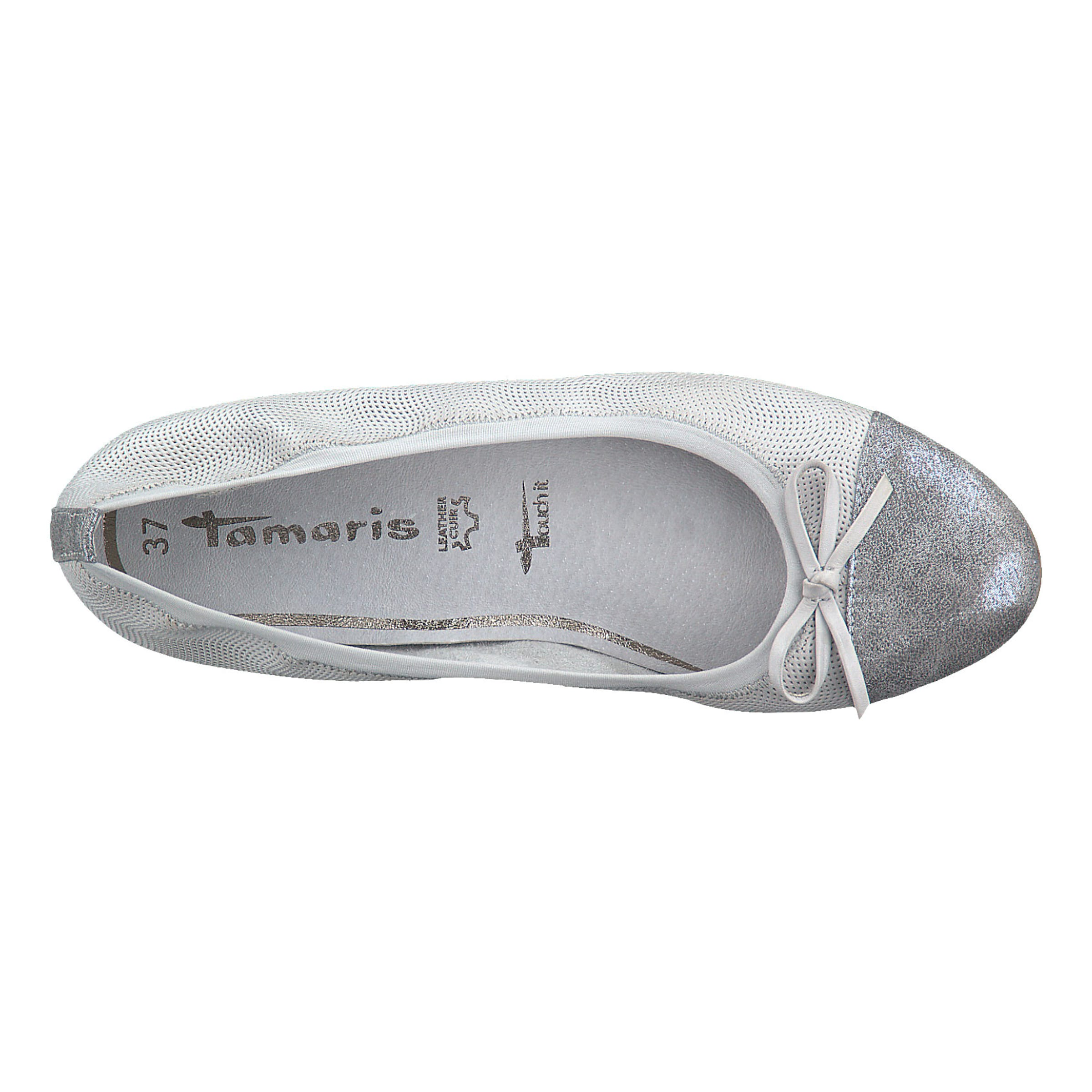 TAMARIS Rabatt Ballerinas Leder, Textil Großer Rabatt TAMARIS 94abcc