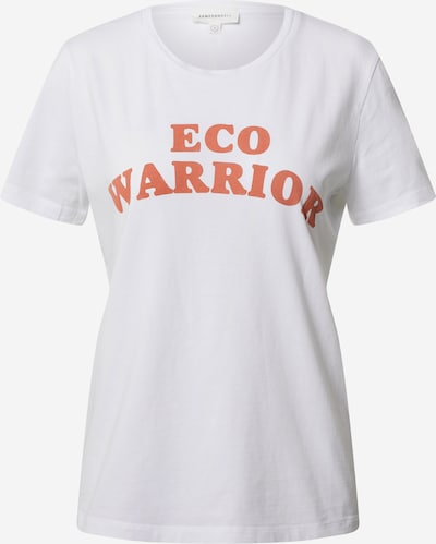 ARMEDANGELS T-Shirt 'MARAA ECO WARRIOR' in orange / weiß, Produktansicht