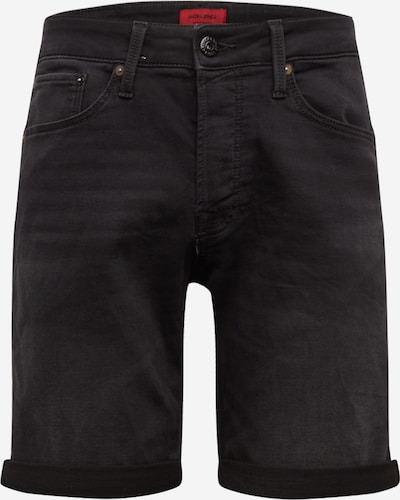 JACK & JONES Jeans 'JJIRICK JJICON SHORTS GE 010 I.K STS' in de kleur Black denim, Productweergave